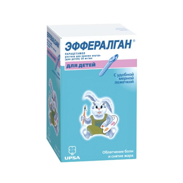 Эффералган раствор для внутреннего применения 30мг/мл 90мл купить в Москве по цене от 68 рублей