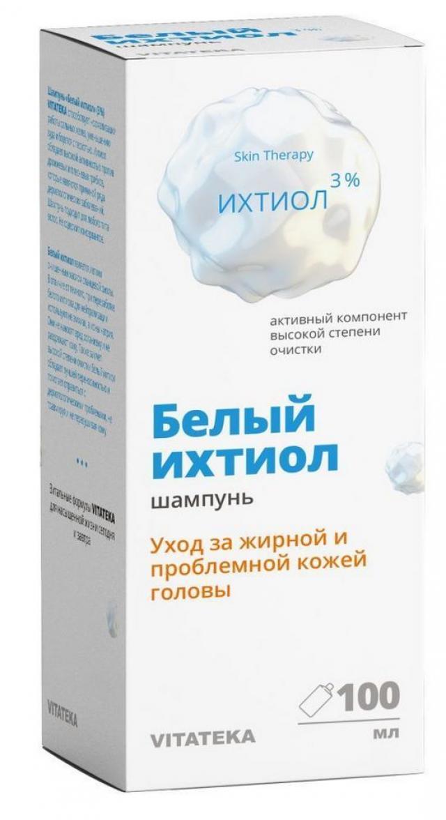 Витатека шампунь Белый ихтиол 3% д/жирн./пробл. кожи головы 100мл купить в Москве по цене от 0 рублей