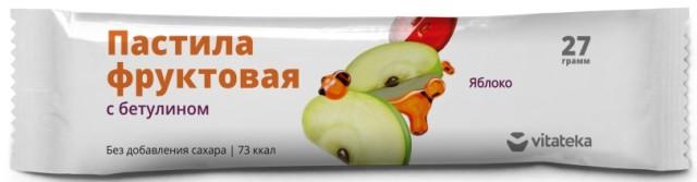 Витатека пастила фрукт. Яблочная 27г купить в Москве по цене от 41 рублей
