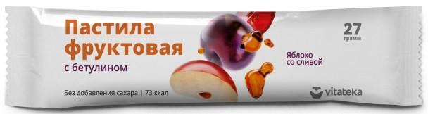 Витатека пастила фрукт. Яблоко/слива 27г купить в Москве по цене от 41 рублей