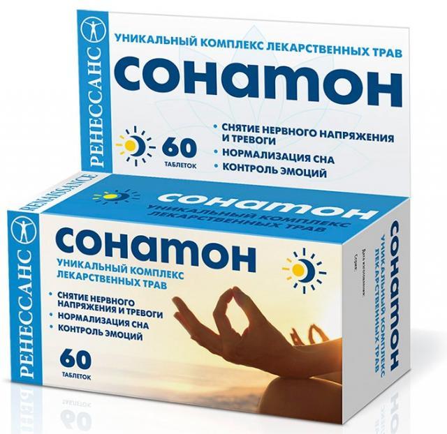 Ренессанс Сонатон таблетки п.о №60 купить в Москве по цене от 370 рублей