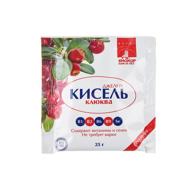 Джели+ Кисель Клюква саше 25г купить в Москве по цене от 30 рублей