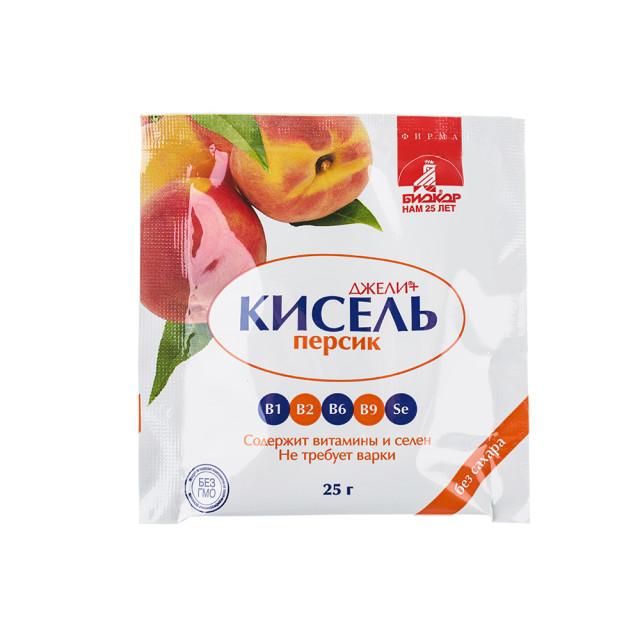 Джели+ Кисель Персик саше 25г купить в Москве по цене от 31 рублей