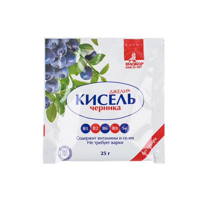 Джели+ Кисель Черника саше 25г купить в Москве по цене от 31 рублей