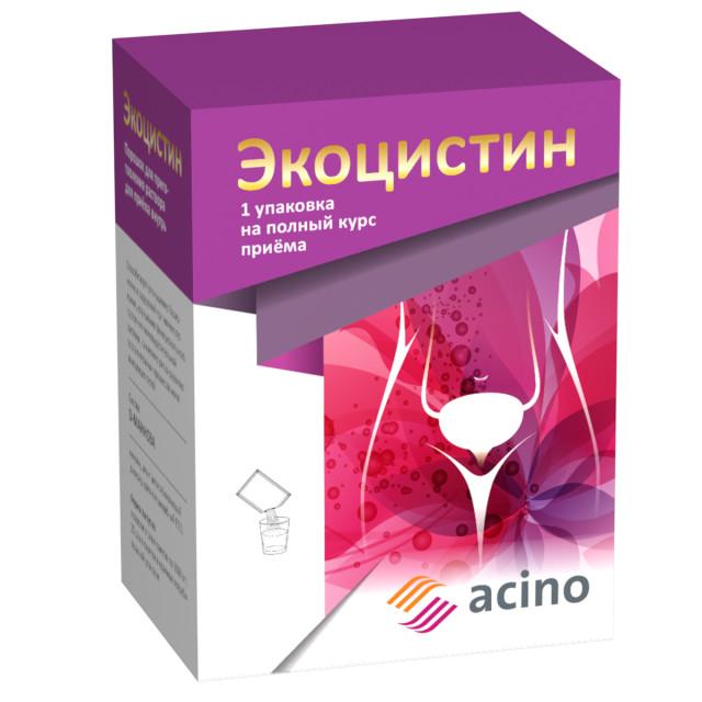 Экоцистин порошок для приготовления раствора внутрь 3000мг саше №20 купить в Москве по цене от 926 рублей
