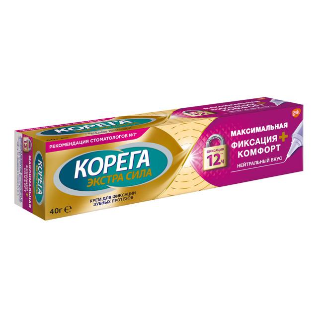 Корега крем д/фикс.зубн.протезов Комфорт 40г купить в Москве по цене от 309 рублей