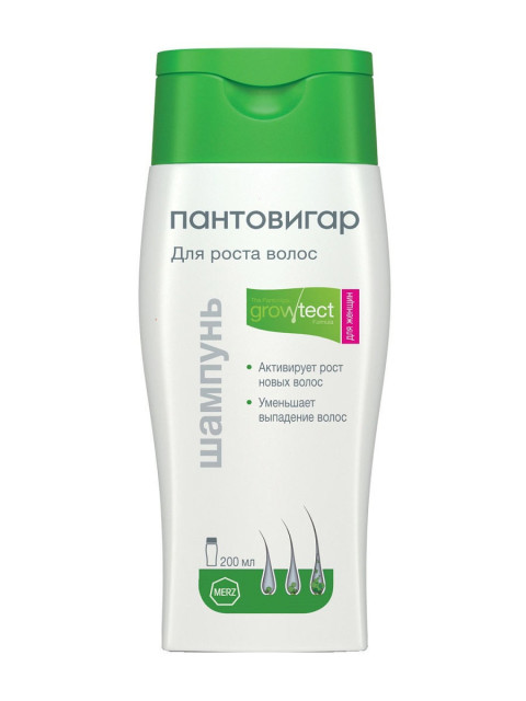 Пантовигар шампунь для роста волос для женщин 200мл купить в Москве по цене от 514 рублей