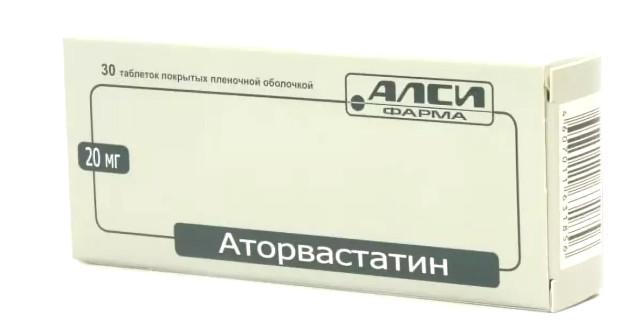 Аторвастатин АЛСИ таблетки 20мг №30 купить в Москве по цене от 198 рублей