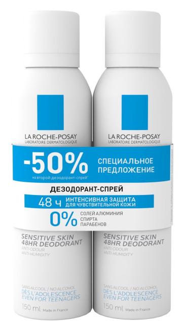 Ля рош позе дезодорант-спрей физиологический 150млх2 купить в Москве по цене от 1270 рублей