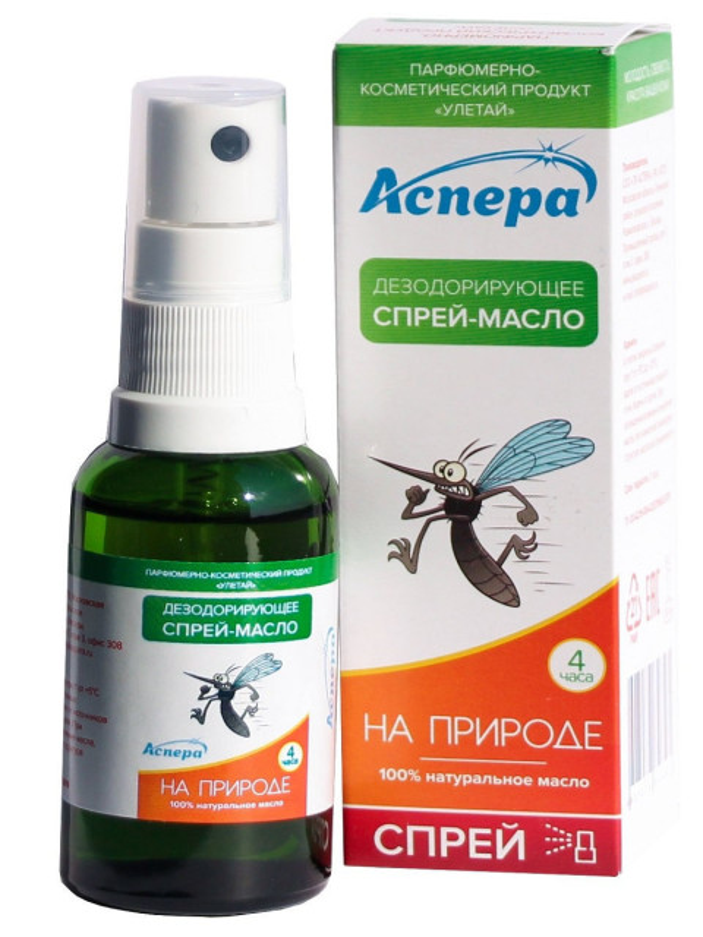 Аспера Улетай масло-спрей для кожи На природе 30мл купить в Москве по цене от 0 рублей