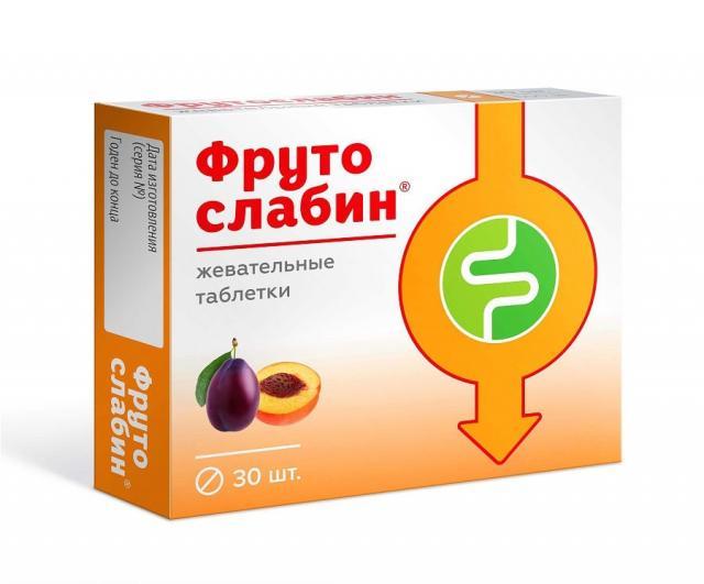 Фрутослабин таблетки 600мг №30 купить в Москве по цене от 187 рублей