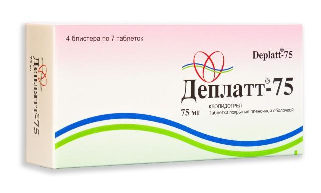 Деплатт таблетки п.о 75мг №28 купить в Москве по цене от 489 рублей
