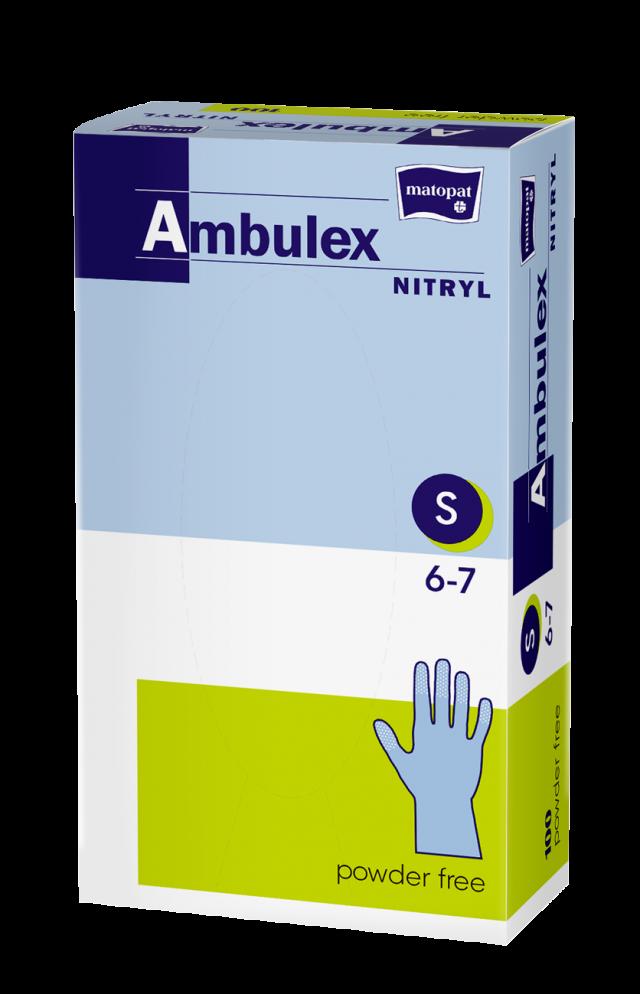 Перчатки не стерильные смотр. нитрил Ambulex Nitry (S) шт №100 купить в Москве по цене от 694 рублей