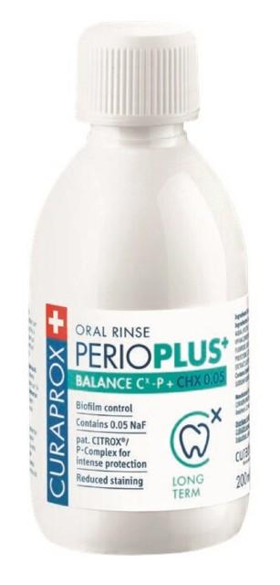 Курапрокс ополаскиватель для полости рта Перио Плюс Баланс 0,05% хлоргексидин 200мл купить в Москве по цене от 1190 рублей