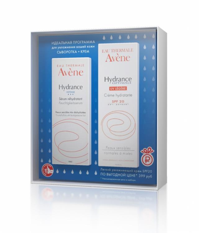 Авен Гидранс Интенс набор сыворотка 30мл+Гидранс Оптималь Лежер UV20 40мл купить в Москве по цене от 0 рублей