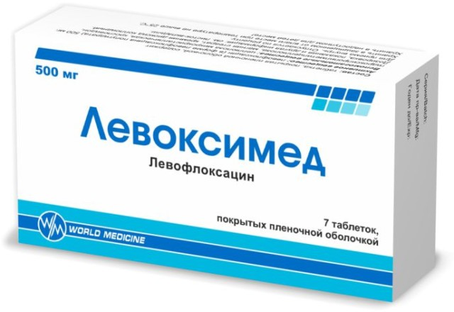 Левоксимед таблетки п.о. 500мг №7 купить в Москве по цене от 515.5 рублей