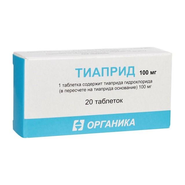 Тиаприд таблетки 100мг №20 купить в Москве по цене от 1220 рублей