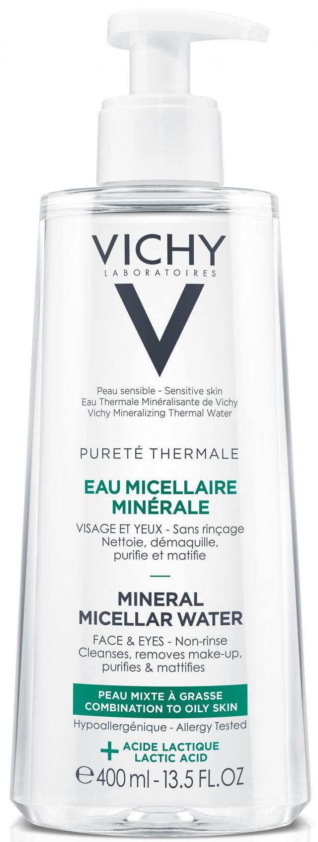 Виши Пюрте Термаль вода мицеллярная для жирной и комбинированной кожи 400мл купить в Москве по цене от 1160 рублей