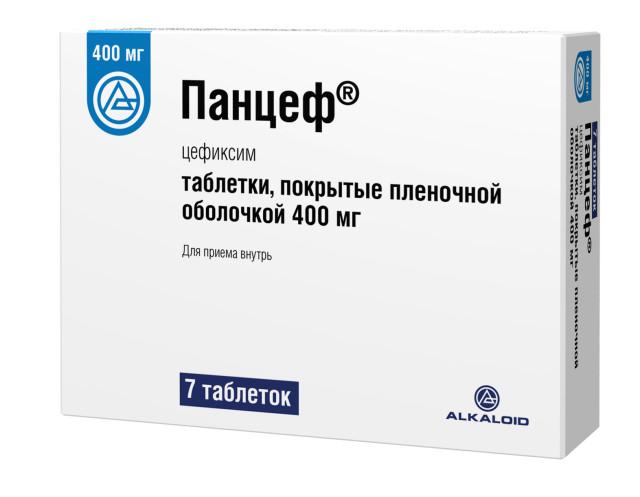 Панцеф таблетки п.о 400мг №7 купить в Москве по цене от 678 рублей