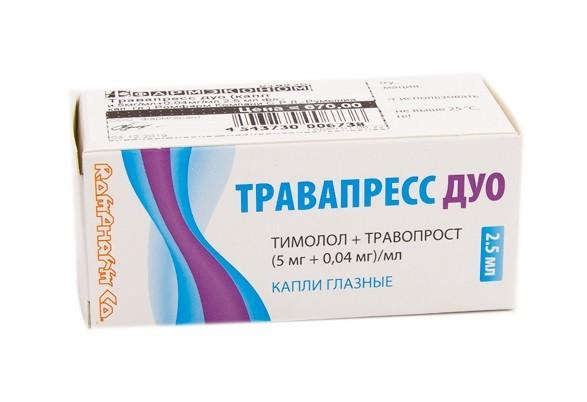 Травапресс Дуо капли глазные 2,5мл купить в Москве по цене от 666 рублей