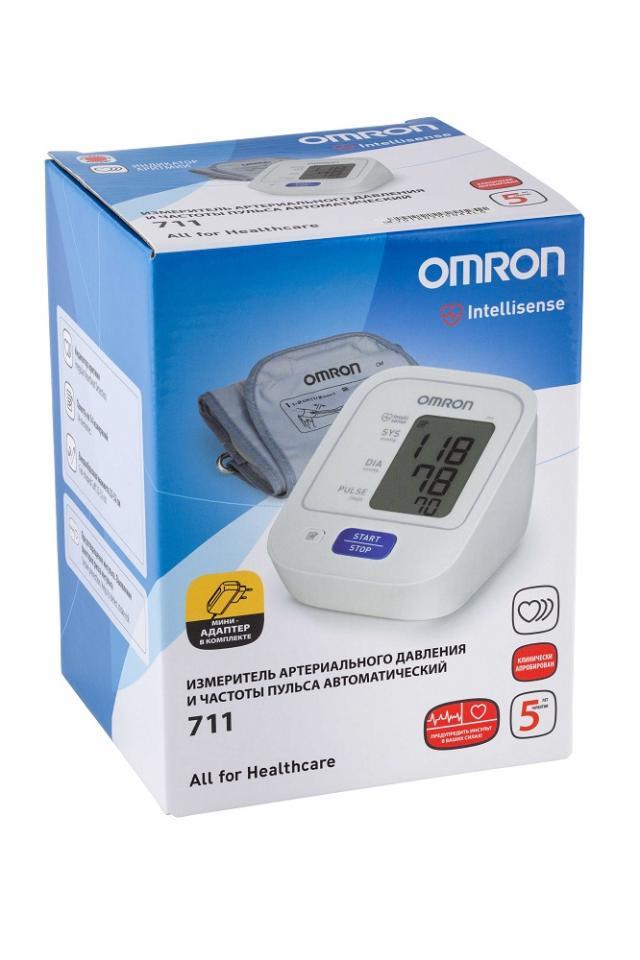 Омрон тонометр автомат 711 (HEM-8712-CM2) с адаптером купить в Москве по цене от 2390 рублей