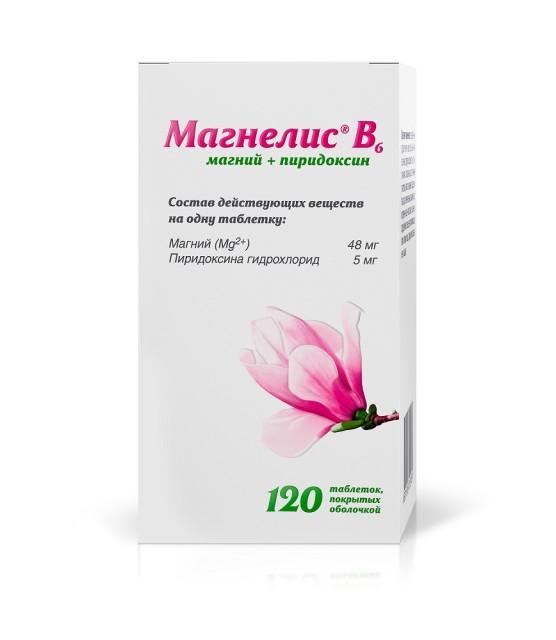Магнелис B6 таблетки п.о №120 купить в Москве по цене от 726 рублей