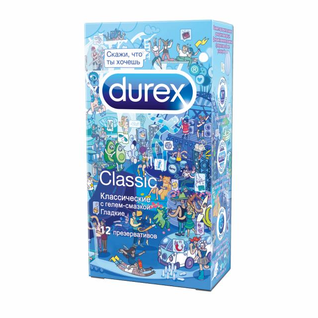 Дюрекс презервативы Classic (классические)/Дудл №12 купить в Москве по цене от 692 рублей