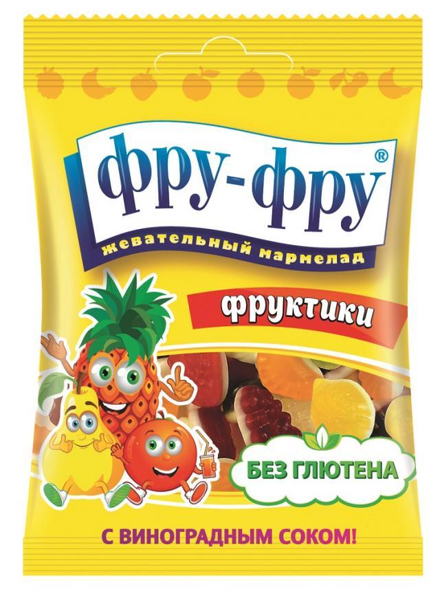 Фру-Фру мармелад жевательные тропические фрукты 30г купить в Москве по цене от 20 рублей
