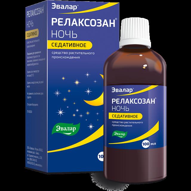 Релаксозан Ночь экстракт внутрь Эвалар 100мл купить в Москве по цене от 0 рублей