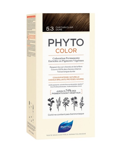 Фитосольба Фитоколор краска для волос т.5.3 светло-золотистый шатен купить в Москве по цене от 1700 рублей