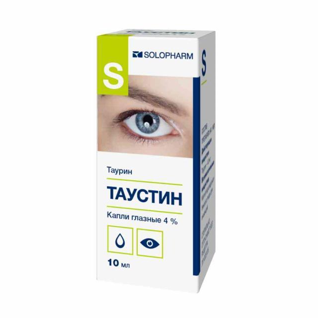 Таустин-СОЛОфарм капли глазные 4% 10мл купить в Москве по цене от 112 рублей