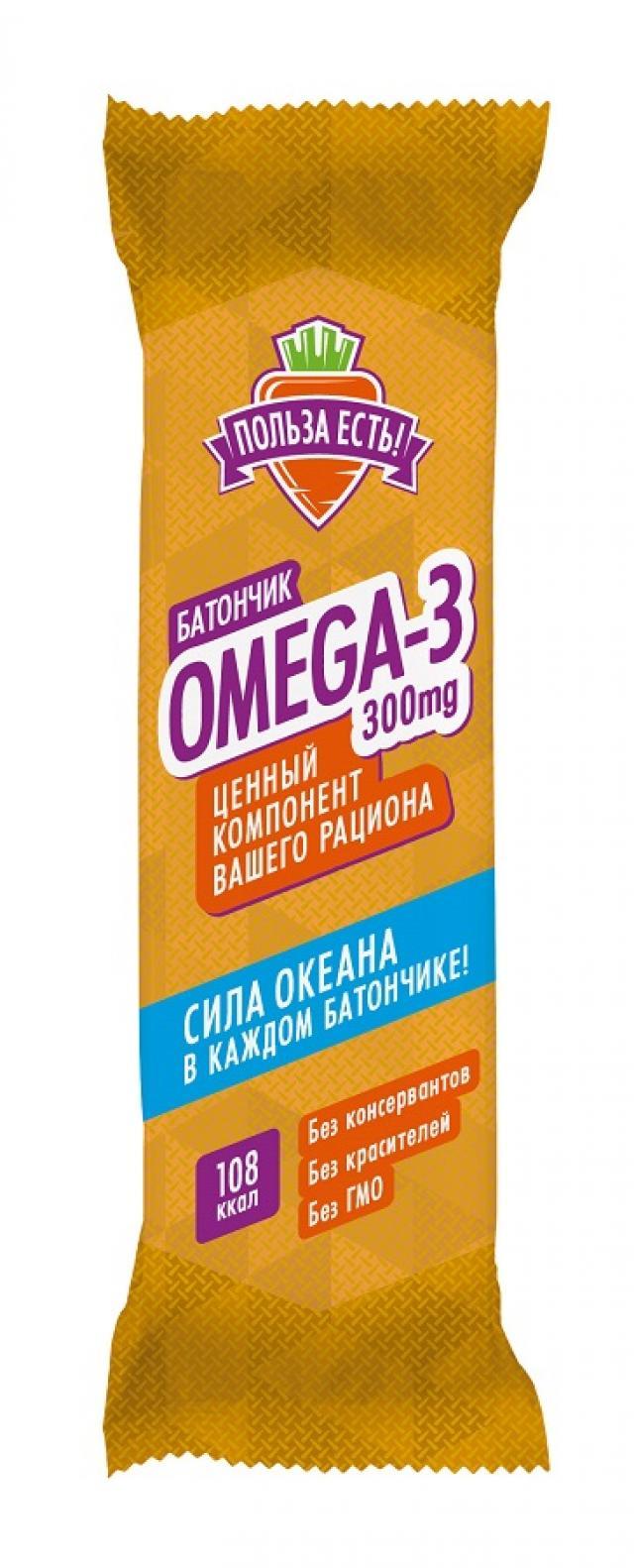 ПользаЕсть батончик с Омега-3 банан 25г купить в Москве по цене от 44.3 рублей