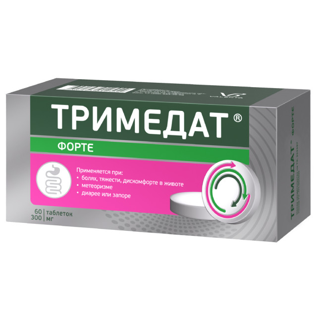 Тримедат форте таблетки пролонгированные 300мг №60 купить в Москве по цене от 1490 рублей