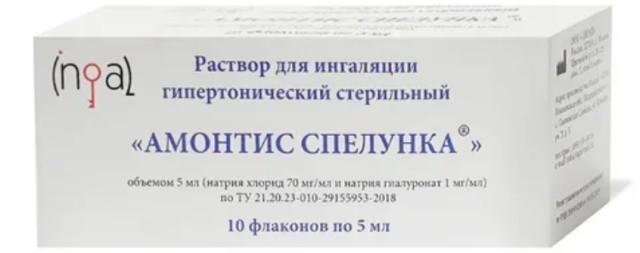 Амонтис Спелунка стер. раствор для ингаляций гипертонич. 5мл №10 купить в Москве по цене от 1180 рублей