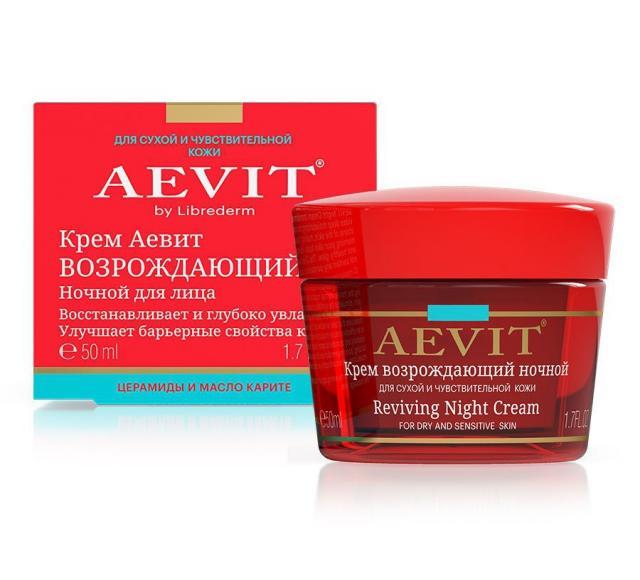 Либридерм крем для лица Аевит ночной возраждающий 50мл купить в Москве по цене от 221 рублей