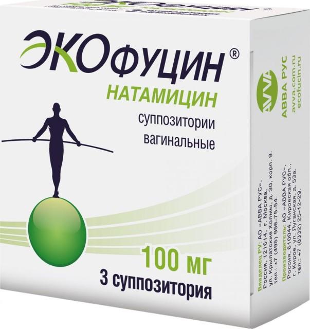 Экофуцин суппозитории вагинальные 100мг №3 купить в Москве по цене от 219.5 рублей