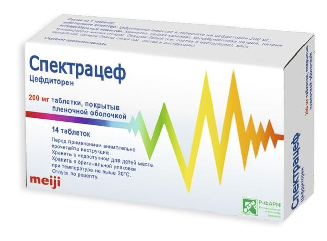 Спектрацеф таблетки п.о 200мг №14 купить в Москве по цене от 956 рублей