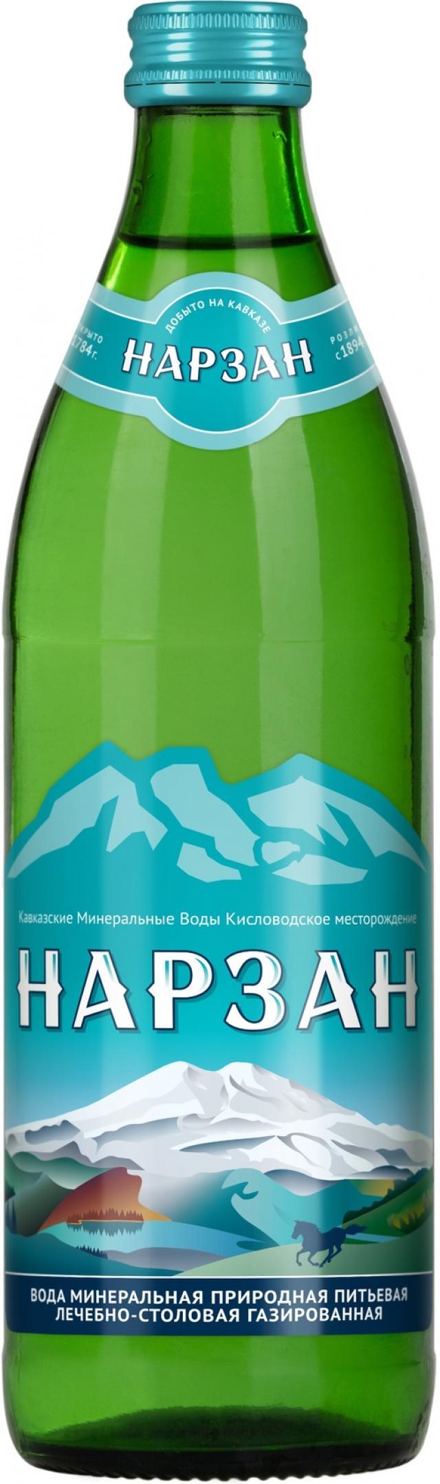 Вода минеральная Нарзан 0,45л стекло купить в Москве по цене от 0 рублей