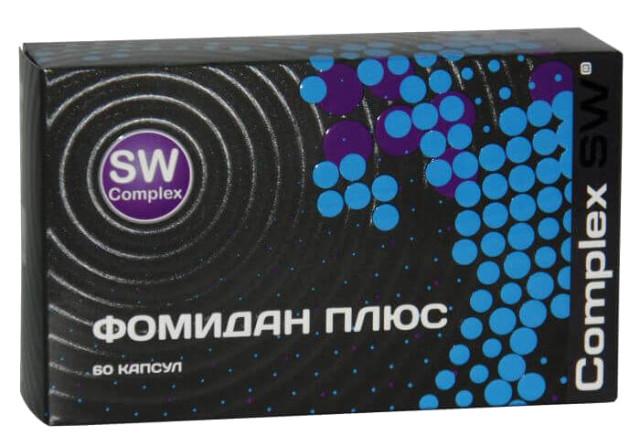 Фомидан Плюс Комплекс СВ капсулы 420мг №60 купить в Москве по цене от 1640 рублей