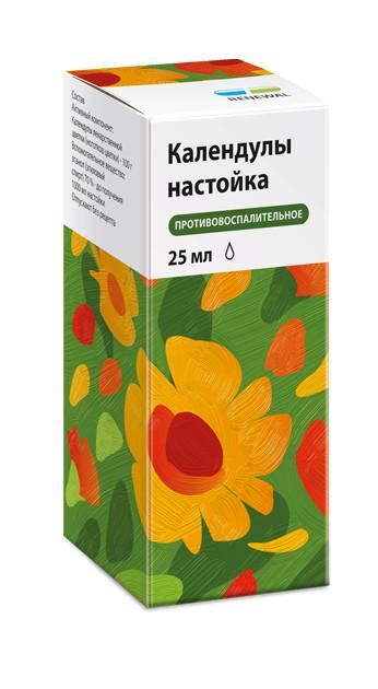 Календула Реневал настойка 25мл купить в Москве по цене от 104 рублей