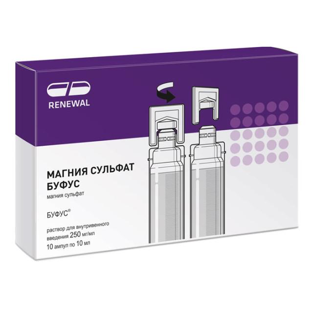 Магния сульфат раствор для инъекций 25% 10мл №10 буфус купить в Москве по цене от 63 рублей