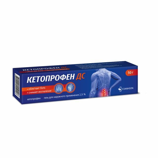 Кетопрофен ДС гель 2,5% 50г купить в Москве по цене от 131 рублей