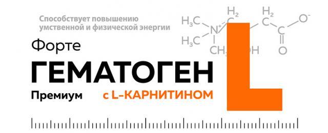 Гематоген Форте Премиум с L-карнитином 35г купить в Москве по цене от 36 рублей