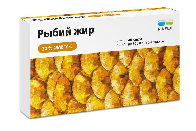 Рыбий жир Реневал Омега-3 капсулы №48 купить в Москве по цене от 311 рублей