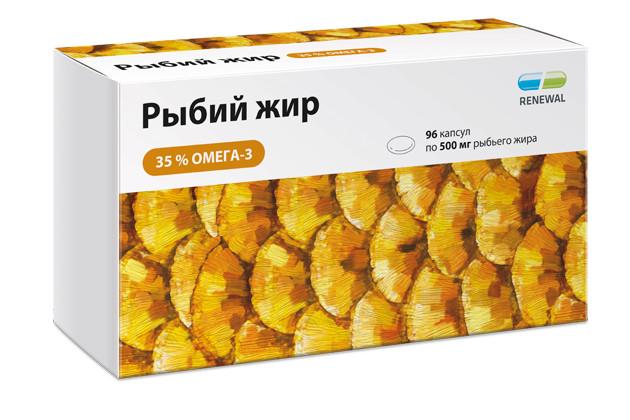 Рыбий жир Реневал Омега-3 капсулы №96 купить в Москве по цене от 490 рублей