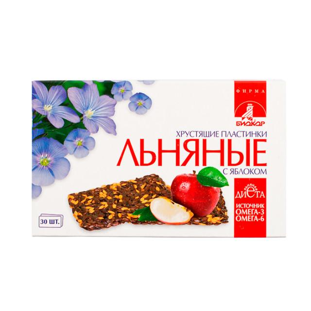 Биокор пластинки льняные хруст. яблоко №30 купить в Москве по цене от 119 рублей