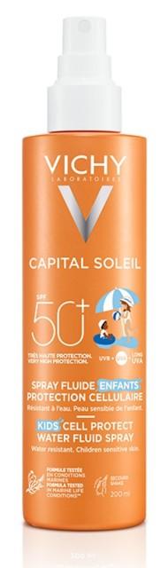 Виши Идеал Солей спрей для детей солнцезащитный SPF50 200мл купить в Москве по цене от 1430 рублей