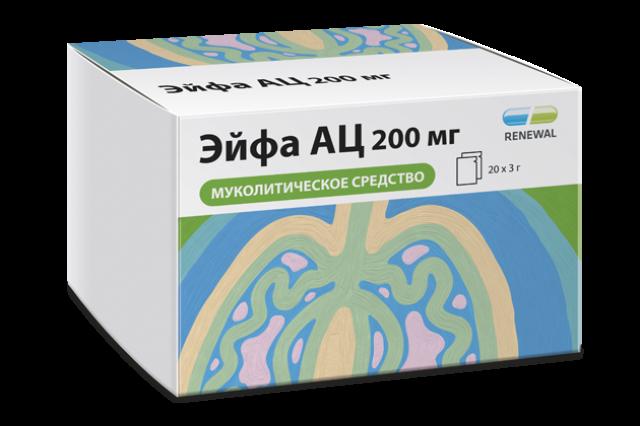 Эйфа АЦ гранулы для приготовления раствора 200мг саше 3г №20 купить в Москве по цене от 98 рублей