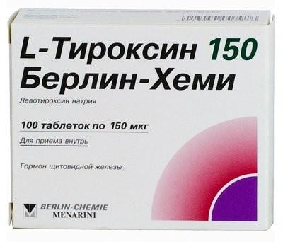 Л-Тироксин-Берлин-Хеми таблетки 150мкг №100 купить в Москве по цене от 181.5 рублей