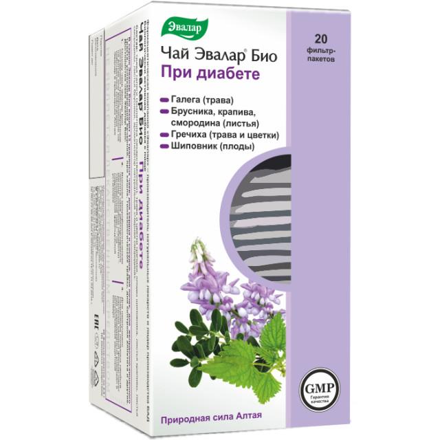 Эвалар Био чай при диабете 2г №20 купить в Москве по цене от 163 рублей